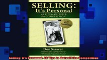 READ book  Selling Its Personal 49 Tips to Outsell the Competition Free Online