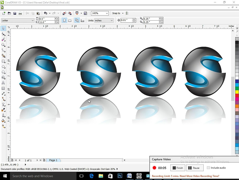 CorelDRAW - Real 3D logo Making - Part 1
