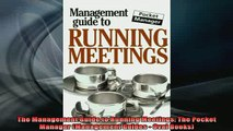 READ book  The Management Guide to Running Meetings The Pocket Manager Management Guides  Oval Free Online