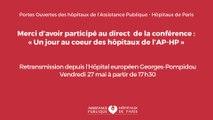 """[LIVE] """"un jour au coeur des hôpitaux de l'AP-HP"""" (27.05.2016)"""