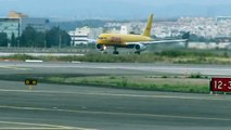 DHL Boeing 752 taking off  rwy 26 at Ben Gurion airport-Israel