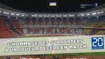 L'hommage émouvant des supporters à un joueur décédé en plein match