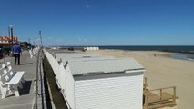 ALLENHURST BEACH - SURFERS, BOATS AND WAVES - NJ New Jersey Shore Beach Life (May 2016)