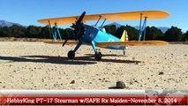 HobbyKing PT-17 Stearman w/SAFE Rx Maiden Flight