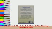 PDF  Chart Smart The AtoZ Guide to Better Nursing Documentation Free Books