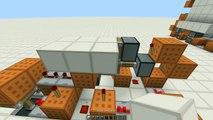 Minecraft - 3 Wide Synced 3x3 Flush Piston Door [Tutorial]