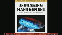 Popular book  EBanking Management Issues Solutions and Strategies