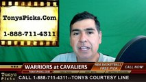 Cleveland Cavaliers vs. Golden St Warriors Free Pick Prediction Game 4 NBA Pro Basketball Finals Odds Preview