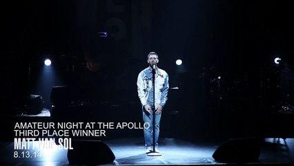 Matt Van Sol, Third Place, Amateur Night at The Apollo