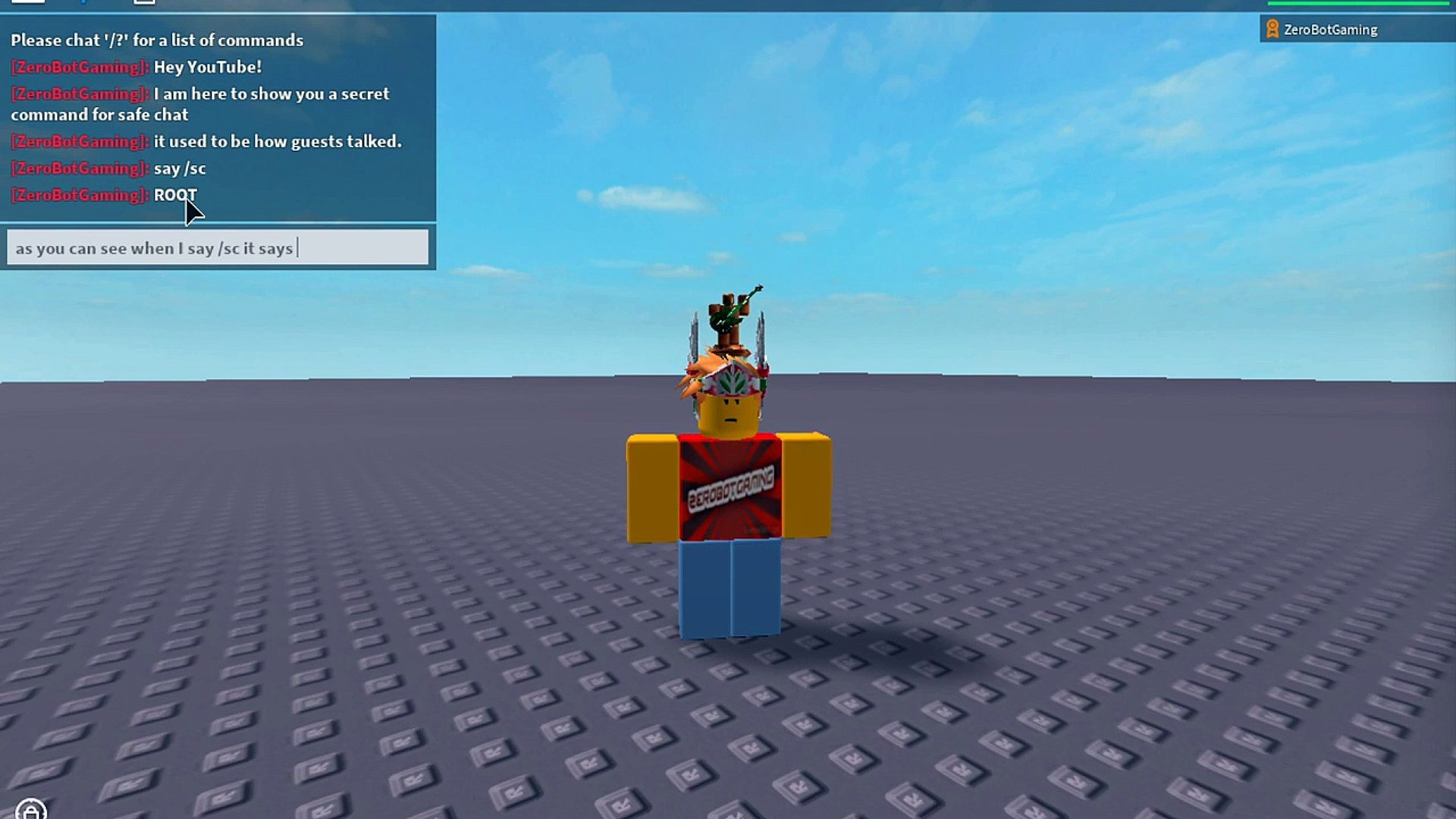 Roblox Secret Safe Chat Command Video Dailymotion