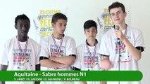 La ligue d'Aquitaine, vainqueur sabre hommes par équipe #fdjescrime 2016