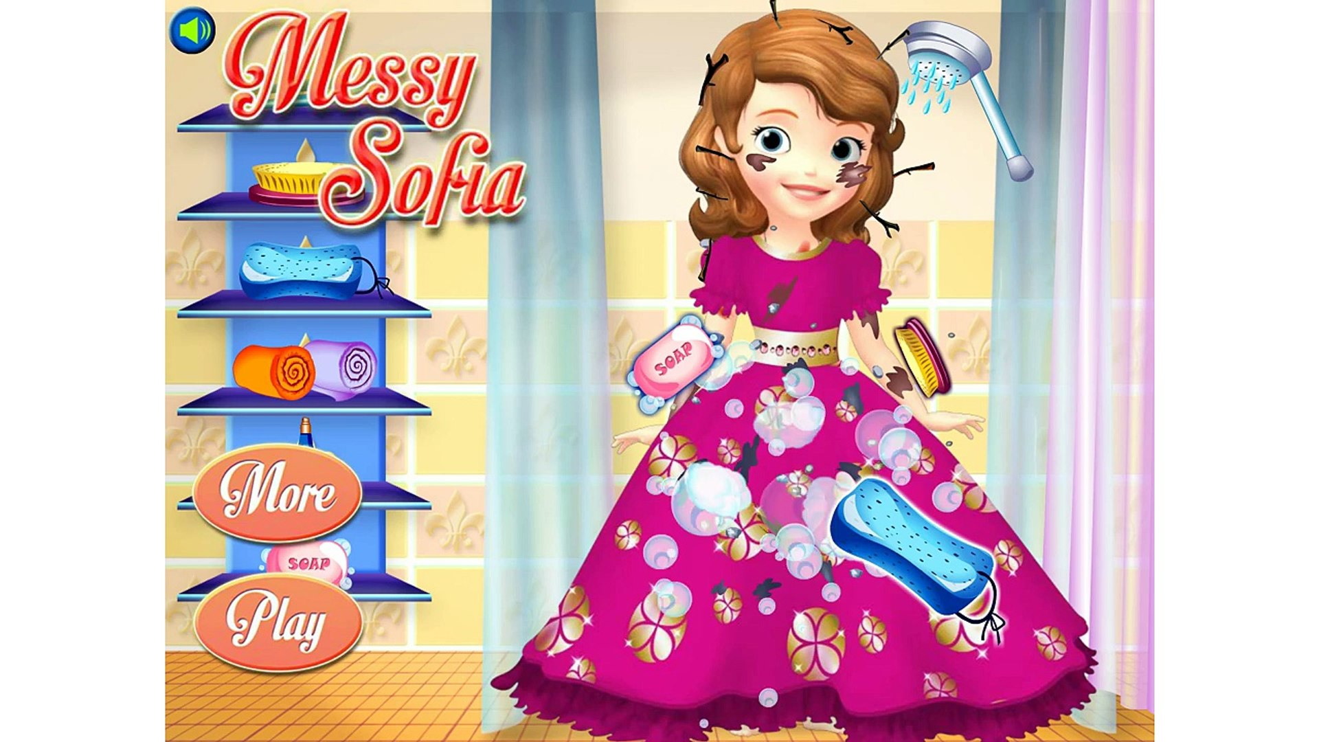 Messy Sofia — Disney Sofia The First Game — for kids — kids games — games for kids — videos for kids
