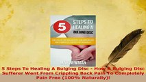 PDF  5 Steps To Healing A Bulging Disc  How A Bulging Disc Sufferer Went From Crippling Back Free Books
