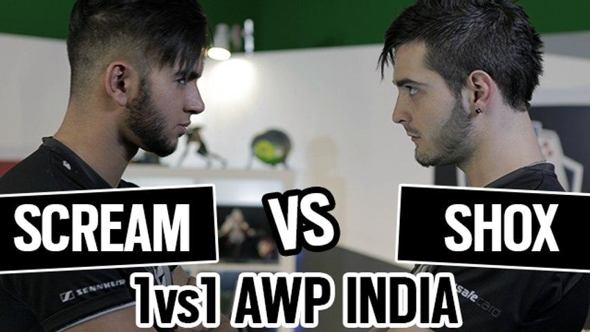 SHOX vs SCREAM 1vs1 AWP INDIA CSGO [ENGLISH SUB]