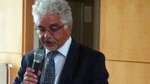 Le départ de Elio Mélis, directeur de l'hôpital de Vire (Calvados)