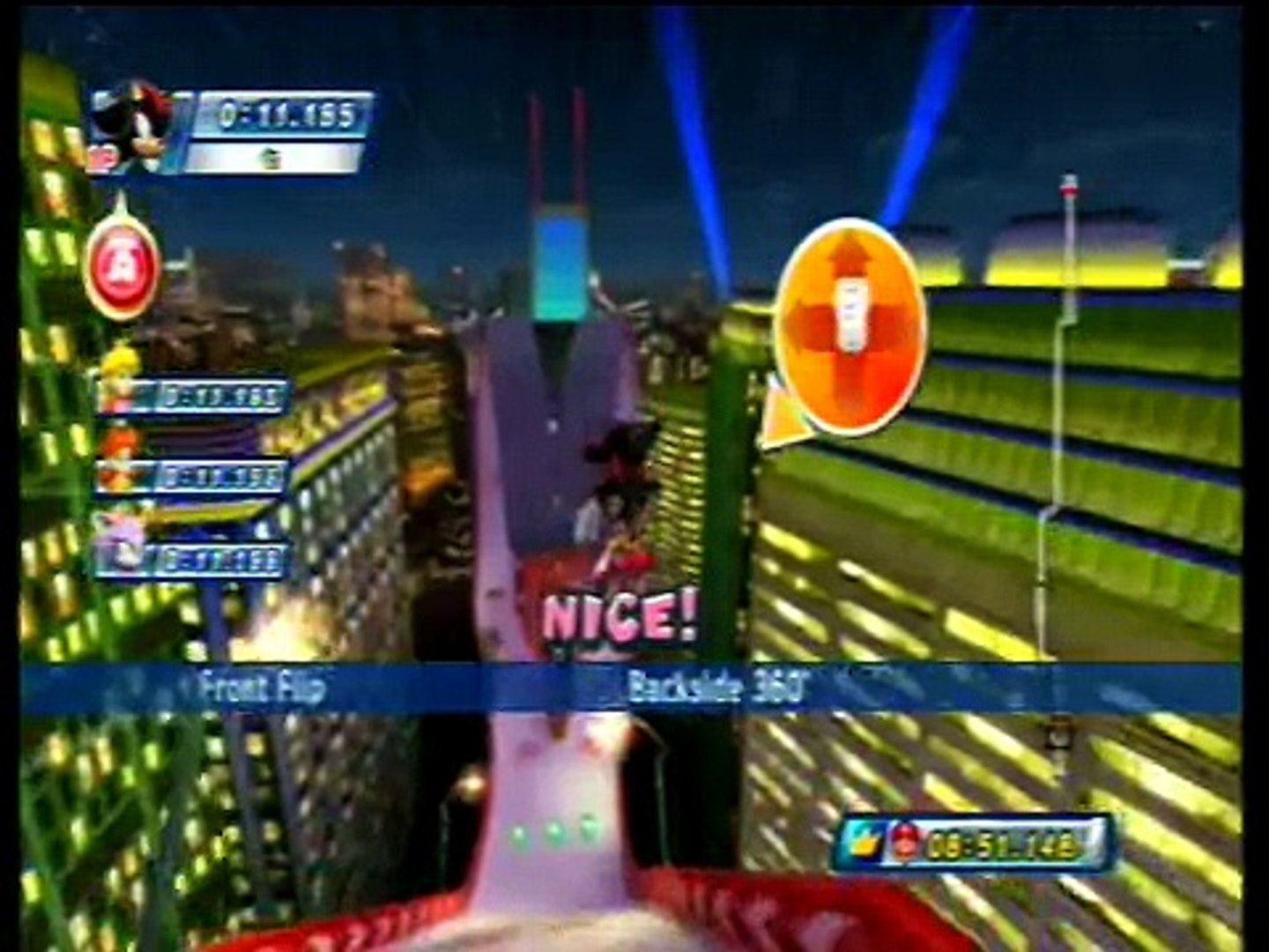 Mario & Sonic at the Olympic Winter Games - Dream Snowboard Cross #25 (Team Shadow)