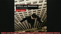 READ book  Ethics and Business An Introduction Cambridge Applied Ethics  BOOK ONLINE
