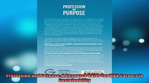READ book  Profession and Purpose A Resource Guide for MBA Careers in Sustainability  DOWNLOAD ONLINE