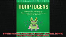 DOWNLOAD FREE Ebooks  Herbal Remedies Adaptogens Herbs For  Adrenals Thyroid Hormone Balance  Much More Full Free