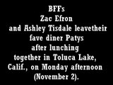 zac efron and ashley tisdale out for lunch on november 2