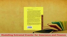 Read  Modelling Extremal Events for Insurance and Finance Ebook Free