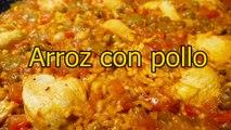ARROZ CON POLLO Y VERDURAS - recetas de cocina faciles rapidas y economicas de hacer