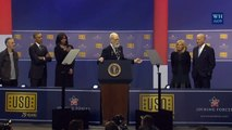 Jon Stewart And David Letterman give a Stand Up Comedy Show At USO 2016