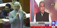 Mujeeb Ur Rehman Mouth Breaking Reply To Khuwaja Asif To Compare Imran Khan To Nawaz Shareef