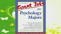 best book  Great Jobs for Psychology Majors