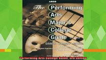 free pdf   Performing Arts College Guide 3rd Edition