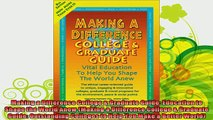 read here  Making a Difference College  Graduate Guide Education to Shape the World Anew Making a