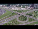 Drone Video Shows Collapsed Oklahoma City Bridge