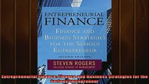 READ book  Entrepreneurial Finance Finance and Business Strategies for the Serious Entrepreneur Free Online