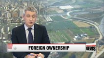 Foreign ownership of Korean land rises in 2015
