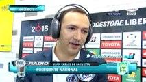 Juan Carlos de la Cuesta habló tras el 3-1 de Nacional ante Central · Copa Libertadores 2016 (cuartos, vuelta)