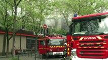 Important incendie dans le quartier de Belleville à Paris
