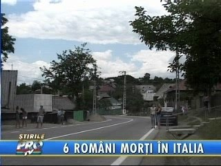 6 bacauani morti in Italia