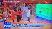 Une femme topless tombe dans les pommes en direct à la TV