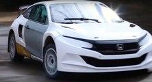 El Honda Civic de Rallycross es una realidad y ¡un flipe!