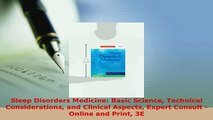 PDF  Sleep Disorders Medicine Basic Science Technical Considerations and Clinical Aspects PDF Full Ebook