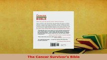 Read  The Cancer Survivors Bible Ebook Free