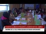 25 nuevos alumnos extrajeros llegarón hasta el campus Osorno de la ULA