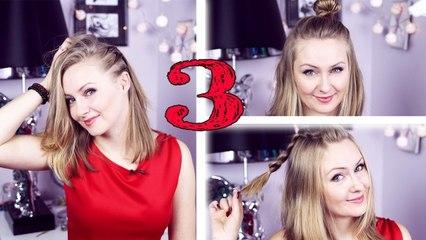 3 proste FRYZURY dla krótkich włosów