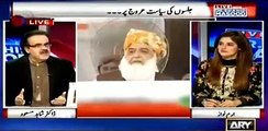 Islam ko Jamhuriat ko Rawayat ko sb ko khatra h siwaye in chand logu k dr  Shahid masood bashing Molana Fazal ur Rehman
