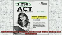 new book  1296 ACT Practice Questions 2nd second Edition College Test Preparation