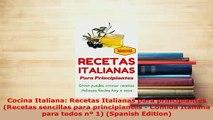 PDF  Cocina Italiana Recetas Italianas para principiantes Recetas sencillas para Read Online