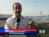 VNews   Vídeos   VTV 2   Fogo Dutra 17 08  Caminhão pega fogo na Dutra