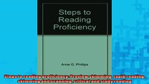 FREE DOWNLOAD  Steps to reading proficiency Preview skimming rapid reading skimming and scanning READ ONLINE
