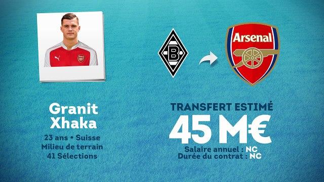 Officiel : Granit Xhaka s'engage avec Arsenal !