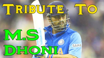 Best Captain in the World Tribute To M S Dhoni By Cricket World